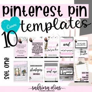 Canva Pinterest Templates for Teacherpreneurs